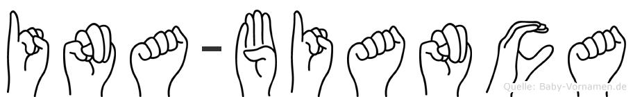 Ina-Bianca im Fingeralphabet der Deutschen Gebärdensprache