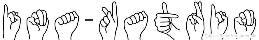 Ina-Katrin im Fingeralphabet der Deutschen Gebärdensprache