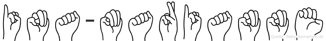 Ina-Marianne im Fingeralphabet der Deutschen Gebärdensprache