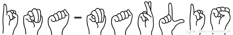 Ina-Marlis im Fingeralphabet der Deutschen Gebärdensprache