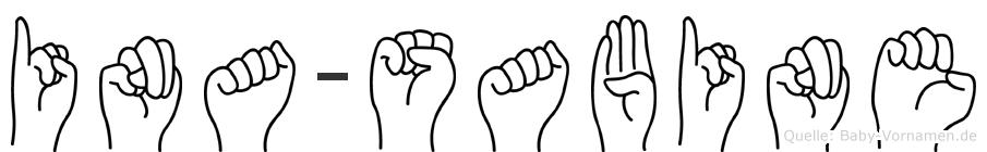 Ina-Sabine im Fingeralphabet der Deutschen Gebärdensprache