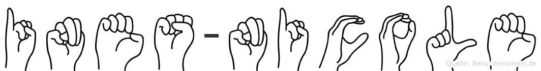 Ines-Nicole im Fingeralphabet der Deutschen Gebärdensprache