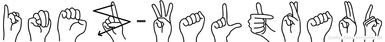Inez-Waltraud im Fingeralphabet der Deutschen Gebärdensprache