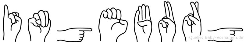 Ingeburg im Fingeralphabet der Deutschen Gebärdensprache