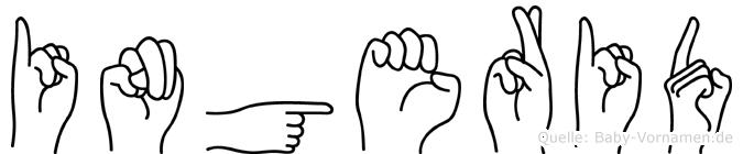 Ingerid im Fingeralphabet der Deutschen Gebärdensprache
