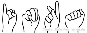 Inka in Fingersprache für Gehörlose