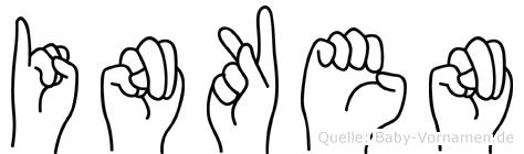 Inken in Fingersprache für Gehörlose