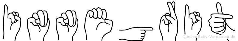 Innegrit im Fingeralphabet der Deutschen Gebärdensprache