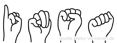 Insa im Fingeralphabet der Deutschen Gebärdensprache