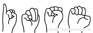 Inse im Fingeralphabet der Deutschen Gebärdensprache