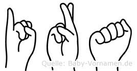 Ira in Fingersprache für Gehörlose