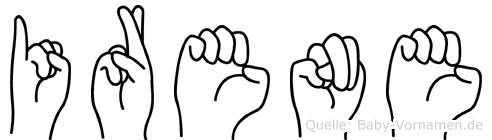 Irene in Fingersprache für Gehörlose
