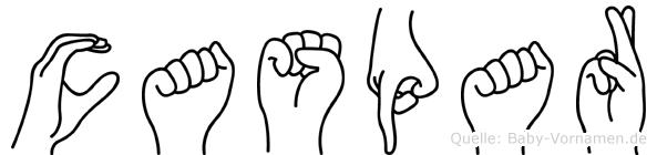 Caspar im Fingeralphabet der Deutschen Gebärdensprache