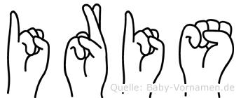 Iris in Fingersprache für Gehörlose