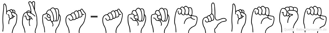 Irma-Anneliese im Fingeralphabet der Deutschen Gebärdensprache