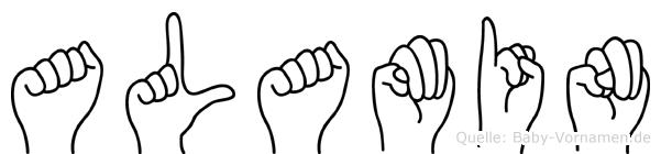 Alamin im Fingeralphabet der Deutschen Gebärdensprache