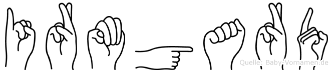 Irmgard in Fingersprache für Gehörlose