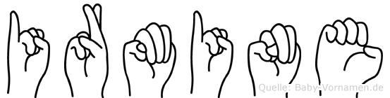 Irmine in Fingersprache für Gehörlose