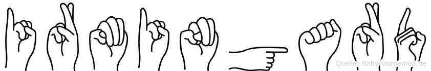 Irmingard im Fingeralphabet der Deutschen Gebärdensprache