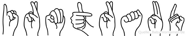 Irmtraud im Fingeralphabet der Deutschen Gebärdensprache