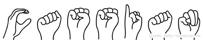 Cassian im Fingeralphabet der Deutschen Gebärdensprache