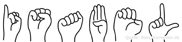 Isabel in Fingersprache für Gehörlose
