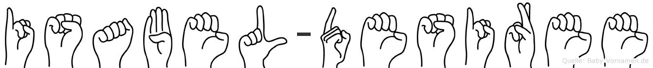 Isabel-Desiree im Fingeralphabet der Deutschen Gebärdensprache