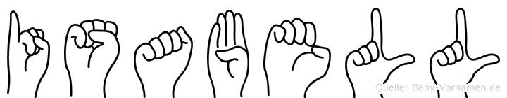 Isabell in Fingersprache für Gehörlose
