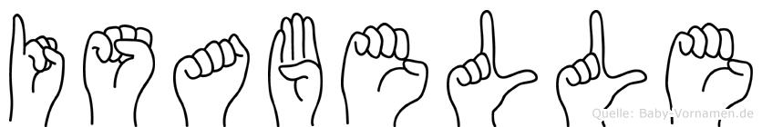 Isabelle in Fingersprache für Gehörlose