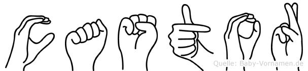 Castor im Fingeralphabet der Deutschen Gebärdensprache
