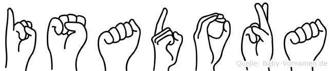 Isadora in Fingersprache für Gehörlose