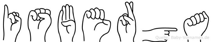 Isberga im Fingeralphabet der Deutschen Gebärdensprache