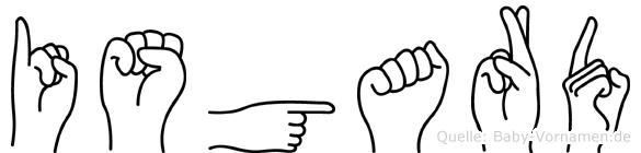 Isgard in Fingersprache für Gehörlose