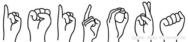 Isidora im Fingeralphabet der Deutschen Gebärdensprache