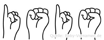 Isis in Fingersprache für Gehörlose