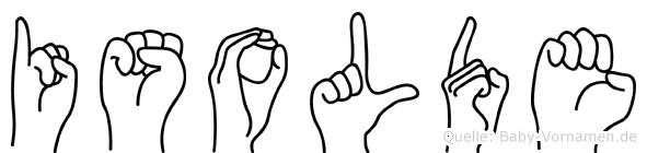 Isolde im Fingeralphabet der Deutschen Gebärdensprache