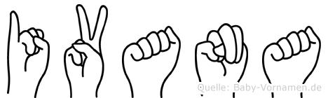 Ivana in Fingersprache für Gehörlose
