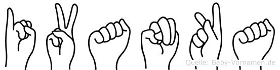 Ivanka im Fingeralphabet der Deutschen Gebärdensprache