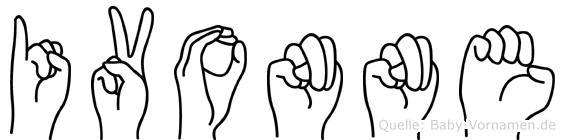 Ivonne im Fingeralphabet der Deutschen Gebärdensprache