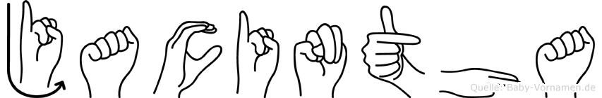 Jacintha in Fingersprache für Gehörlose