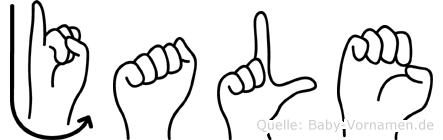 Jale im Fingeralphabet der Deutschen Gebärdensprache