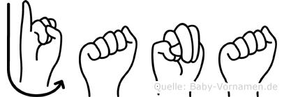 Jana in Fingersprache für Gehörlose