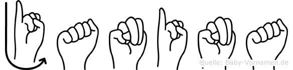 Janina in Fingersprache für Gehörlose