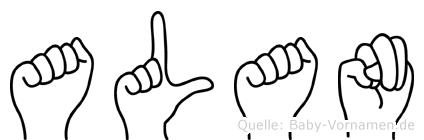 Alan in Fingersprache für Gehörlose