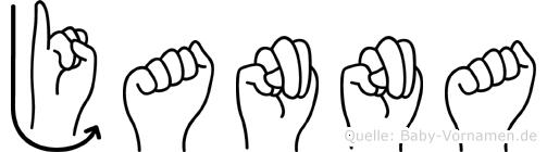 Janna in Fingersprache für Gehörlose