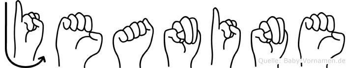 Jeanine im Fingeralphabet der Deutschen Gebärdensprache