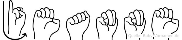 Jeanne im Fingeralphabet der Deutschen Gebärdensprache