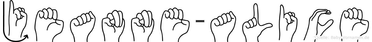 Jeanne-Alice im Fingeralphabet der Deutschen Gebärdensprache