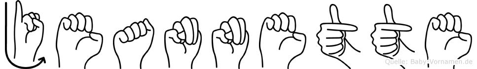 Jeannette in Fingersprache für Gehörlose