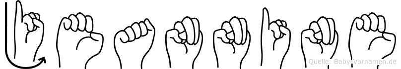 Jeannine im Fingeralphabet der Deutschen Gebärdensprache
